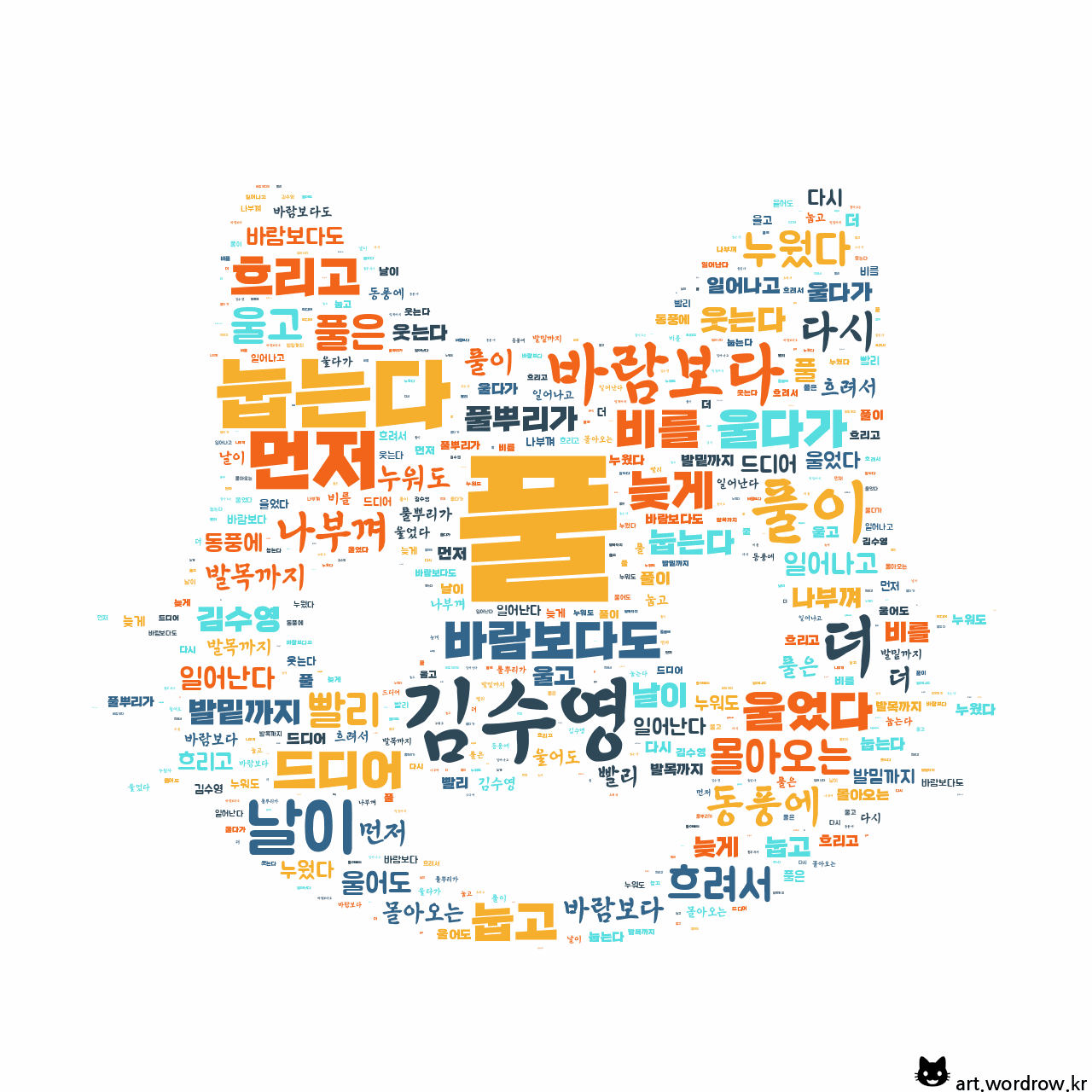 워드 아트: 풀 [김수영]-9